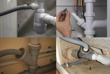 Как подключить стиральную машинку к канализации?