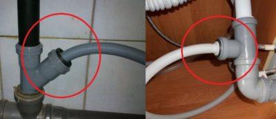 Как подключить слив посудомоечной машины к канализации?
