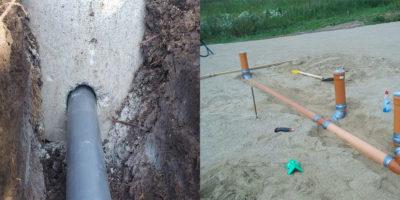 Как в фундаменте сделать отверстие для канализации?