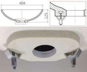 Как закрепить накладную раковину на столешнице?