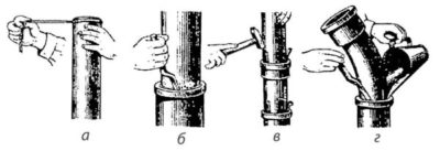 Как зачеканить водопроводную чугунную трубу?